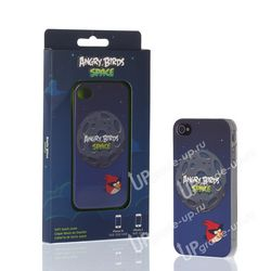 Чехол-накладка для Apple iPhone 4 * 4s ANGRY BIRDS Space Fight Liguid Rubber ICAS409G 15